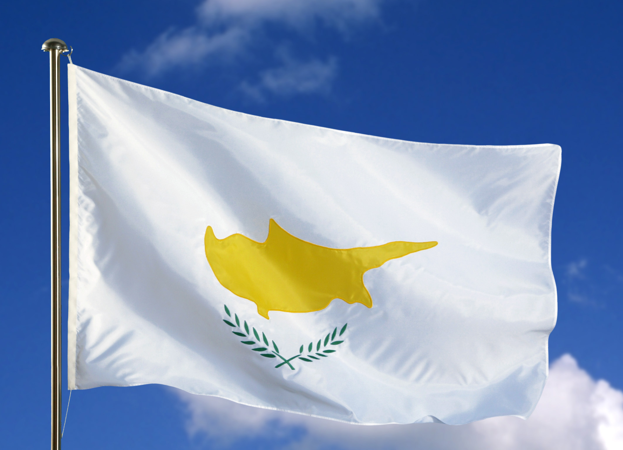 vlag Cyprus wapperend