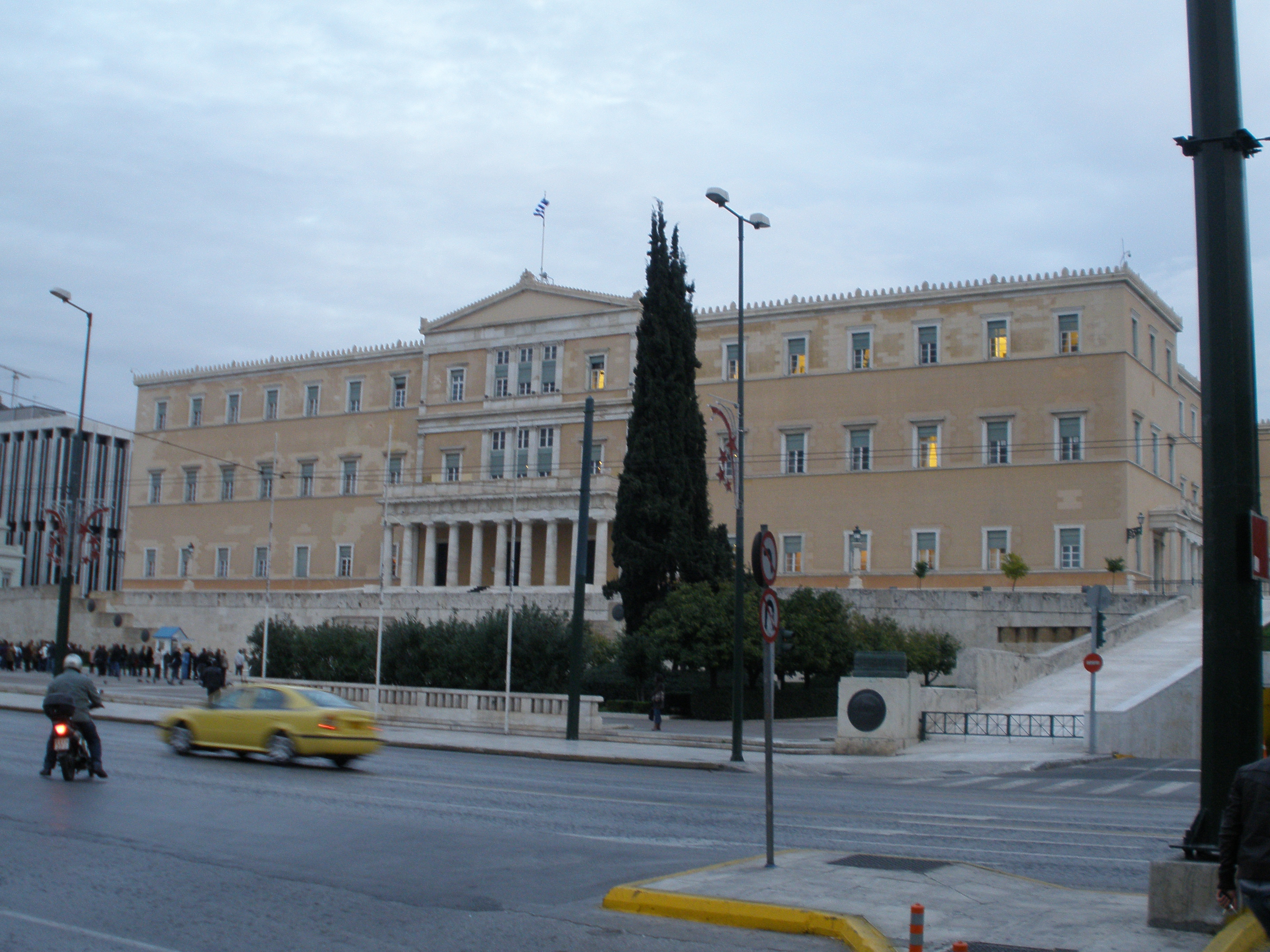 parlement in Athene, griekenland in crisis