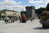 New canal square in Kilkenny, Ierland