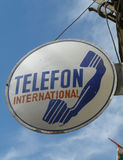 bord met 'telefon international'