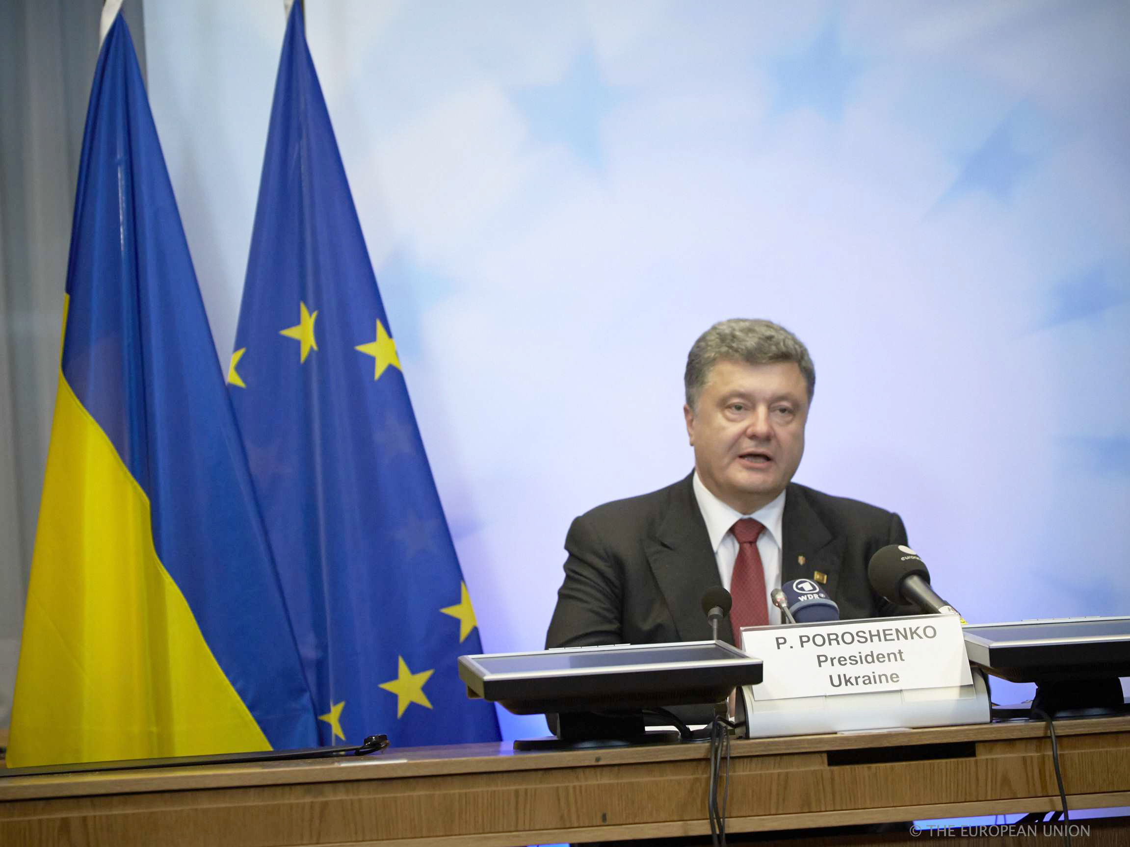 Special meeting of the European Council - Press conference by the Ukrainian President, Mr Petro Poroshenko