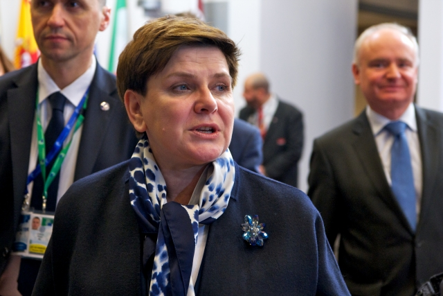De Poolse premier Beata Szydlo