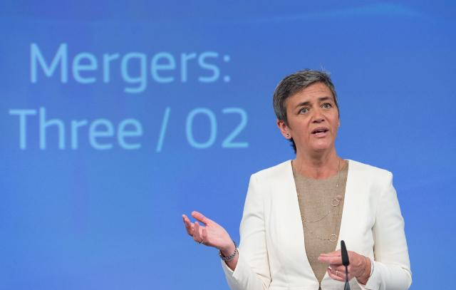 Eurocommissaris Vestager - Photographer: Georges Boulougouris