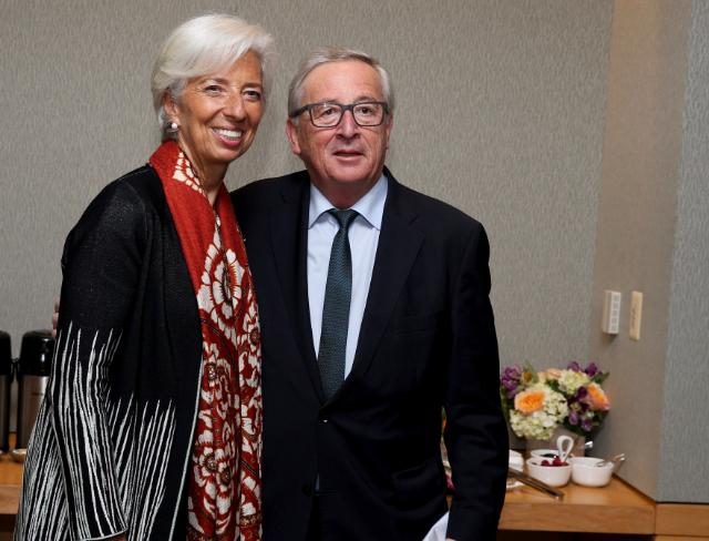 Christine Lagarde, Managing Director of the International Monetary Fund (IMF), on the ...