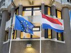Vlag EU en Nederland