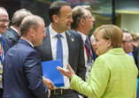 From left to right: Mr Joseph MUSCAT, Maltese Prime Minister; Mr Leo VARADKAR, Irish Taoiseach; Ms Angela MERKEL, German Federal Chancellor.