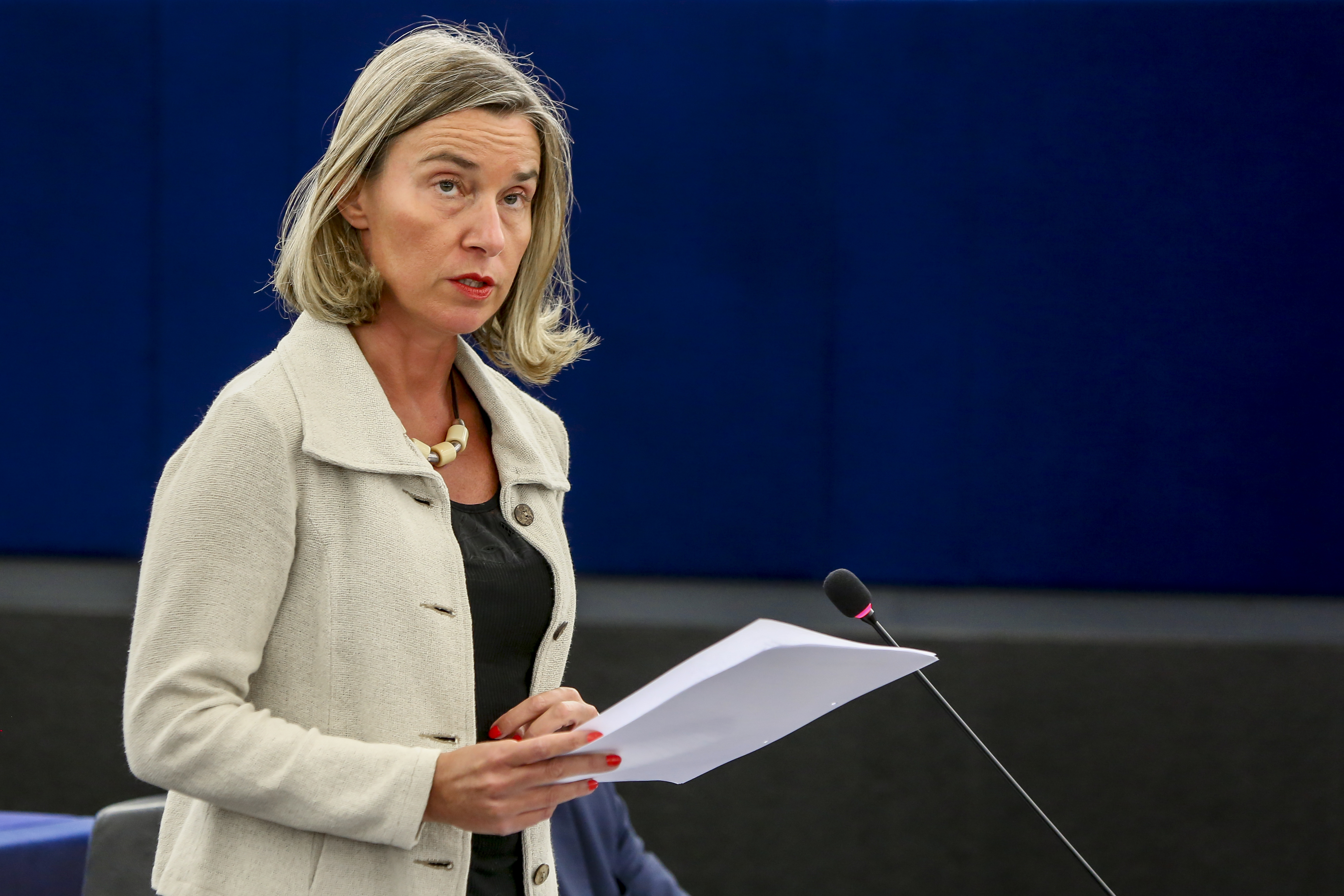 Ms Federica MOGHERINI, High Representative of the EU for Foreign Affairs and Security Policy.