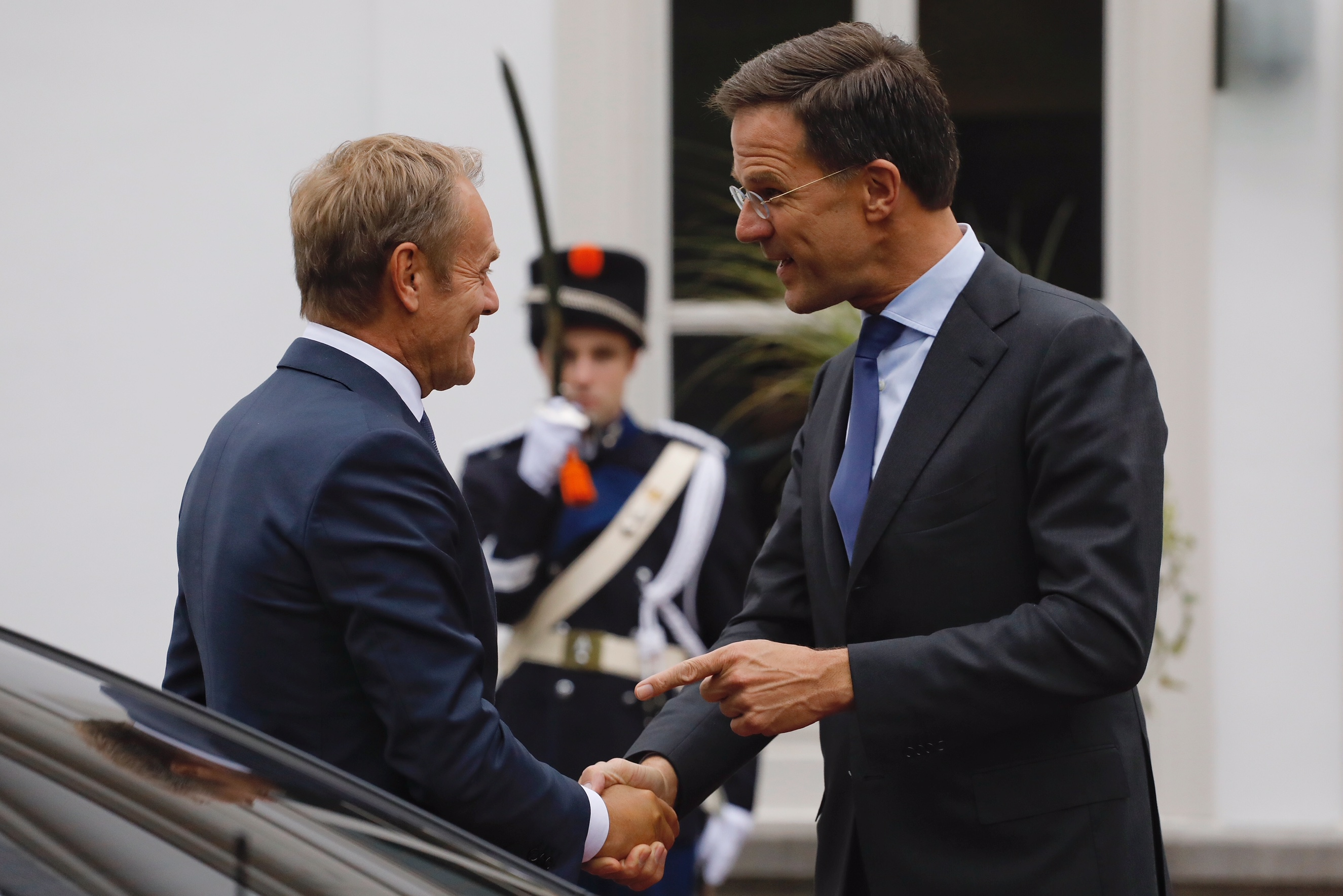 From left to right: Mr Donald TUSK, President of the European Council; Mr Mark RUTTE, Dutch Prime Minister.