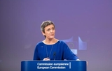 Margrethe Vestager at the podium