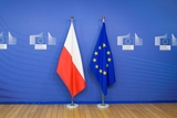 EU and Polish flags