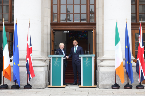 Boris Johnson en Leo Varadkar