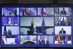 EU leaders' video conference